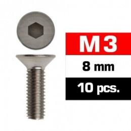 TORNILLOS M3x8mm AVELLANADO...