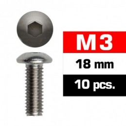 TORNILLOS M3x18mm BOTON (10u.)