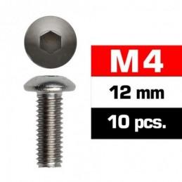 TORNILLOS M4x12mm BOTON (10u.)