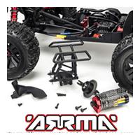 Repuestos y piezas opcionales para los coches ARRMA